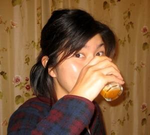 みかんジュースで乾杯!!